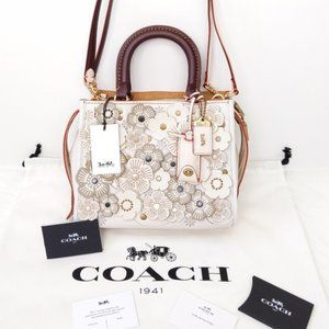 NWT Coach 1941 Tea Rose Rogue 25 Bag Chalk/Brass